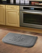 Gray Wine Memory Foam Anti Fatigue Kitchen Floor Mat Rug Victoria Classics