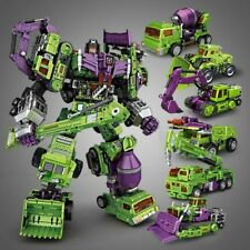 Transformers Devastator 6 In 1 Action Figure Engineering Truck Robot Toy Sets