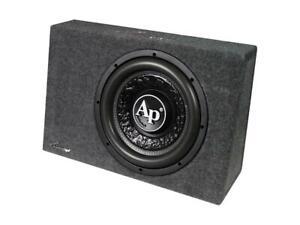 New Audiopipe APSB-SP12SLM 800 Watt Sealed Bass Enclosure Black Loud Slim SPL