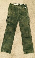 NWT Abercrombie Slim Straight Camouflage Olive Military Cargo Pants Mens 28 x30