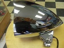 "HARLEY CHOPPER CUSTOM BILLET 5 3/4"" HEADLIGHT W/ VISOR  BIG DOG  STYLE CHROME"
