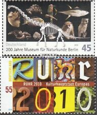 FRD (FR.Germany) 2775,2776 fine used / cancelled 2010 Natural History, Ruhr