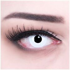 White colored Crazy Zombie contact lenses for Carnival and Halloween: Whiteout