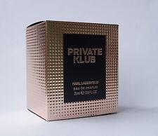 KARL LAGERFELD -  PRIVATE KLUB FOR HER EAU DE PARFUM 25 ML OVP *'#75-14-5