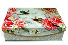Punch Studio Flap Rectangle Flip Top Nesting Box Hummingbird Garden 69745 Med