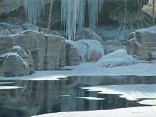 Robert Bateman WINTER REFLECTION, Large giclee canvas ARTIST PROOF A/P#18/18