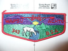 OA Wapsu Achtu Lodge 343 S4,60s Colorful Deer Flap,Susquehanna Valley Council,PA