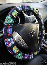Handmade Steering Wheel Cover Day of the Dead Fun Folklore Sugar Skulls