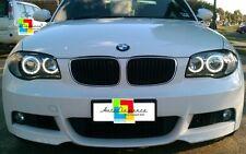 Fari anteriori angel eyes LED BIANCHI  BMW Serie 1 E87 + kit xenon installato