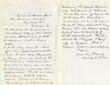 Famous economist David A Wells signed letter re taxation of bonds & court system