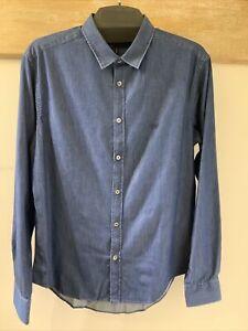 Emporio Armani Slim Fit Denim Shirt, Size Large