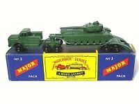 Matchbox Lesney M-3a Thornycroft Antar And Sanky Tank Transporter In Type B Box
