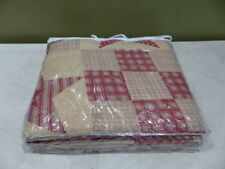 Star Patchwork Quilt N/A Red/Beige 35563