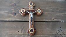 Bethlehem Olive Wood Holy Essences Relics Capsules Crucifix Jerusalem Church 7.2
