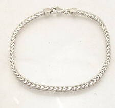 "8.5"" Mens Solid Italian Franco Chain Bracelet Anti-Tarnish 925 Sterling Silver"