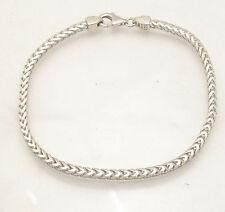 "8.5"" Mens Solid Italian Franco Chain Bracelet Anti-Tarnish 925 Sterling Silver"