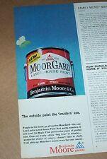 1965 print ad -Benjamin Moore Paints- latex house paint vintage ADVERTISING