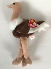 Ty Beanie Baby, Stretch the Brown Ostrich, Used with Tags,1997
