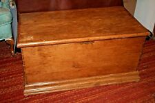 "Vintage Large Swedish 38x20x18"" Pine Wood Flip Lid Toy Box Storage Trunk Chest"
