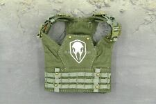 1/6 Scale Toy Tactical Female Shooter Green Skull Molle Vest