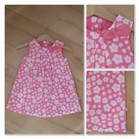 MOTHERCARE Baby Girls Floral Dress 6-9 Months NEW Cotton Pink White Floral Lined