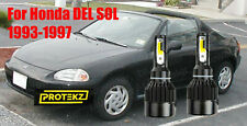 LED For DEL SOL 1993-1997 Headlight Kit H4/9003 6000KWhite CREE Bulbs HI/LO Beam