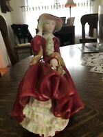 """Beautiful Royal Doulton figurine """"Top O The Hill"""" Lady. Excellent Condition."""