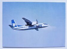 LOT Polish Airlines official postcard Antonov AN-24