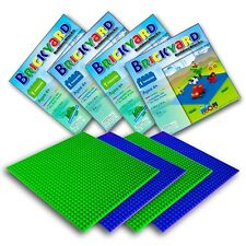 [Improved Design] 4 Baseplates, 10 x 10 Inches Large Thick Base Plates for Bu...