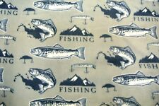 "Fish Fishing Lures Trout Bass Blanket Sofa Throw Chair Throw 56""x67"""