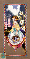 Cross Stitch Chart / Pattern ~ Mirabilia Old Fashioned Girl Gathering Eggs #MD49