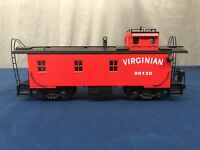 K-line Virginian Off-Center Cupola Wood-Sided Smoking Caboose NO BOX
