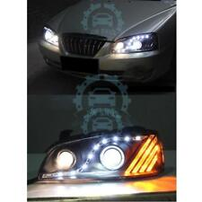 Xenon Double Lens LED Headlight White Blue Refit For Hyundai Elantra 2004-2008