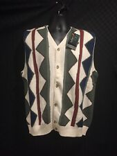 Greg Norman Large Argyle Style Sweater Vest