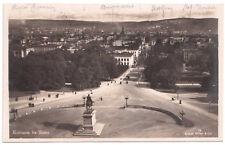 AK Postkarte Kristiania fra Slottet Oslo Norwegen gelaufen 1923 n. Hersbruck