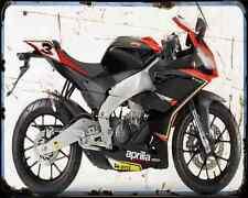 APRILIA Rs4 125 Biaggi réplica A4 Metal Sign moto antigua añejada De