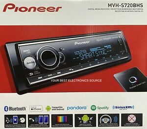 NEW Pioneer MVH-S720BHS 1-DIN Digital Media Car Stereo with Bluetooth