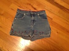 Gap Girl's Sequin Blue Jean Shorts Rhinestone Sparkle Size 6