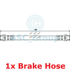 Apec BRAKING 205mm Bremsscheiben Bremssattel Flexible Gummi Schlauch HOS3159