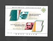 2004 Ultimate Collections Dan Marino & Joe Montana Dual Patch #5/10