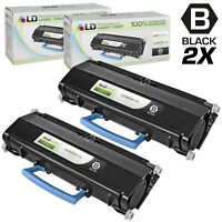LD Remanufactured Toner Cartridge Replacement for Lexmark E260A11A Black, 2-Pack