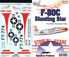 F-80 C Shooting Star: 51st FIW Strip 'N' Stare (1/32 decals, Superscale 320246)