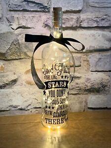 Good Friends Are Like Stars Light Up Novelty Wine Bottle Gift