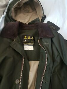 Barbour NEW Ventile Mens jacket. C46 117cm. Ykk zip, wired button  hood