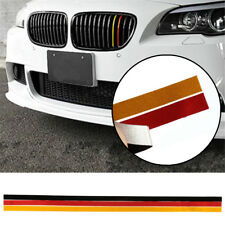 3-Color Grille Grill Vinyl Strip Sticker Decal For BMW M3 M5 E46 E90 German Flag