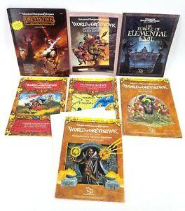 AD&D TSR GREYHAWK ADVENTURES - SOURCEBOOK, GUIDE, 9222, 9147, 9112, 9153 & MORE