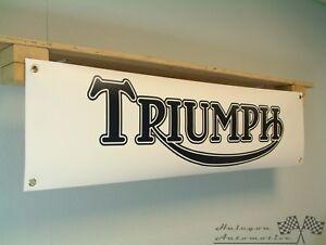 Triumph Banner classic Motorcycle Show Bonneville Workshop Garage Display sign