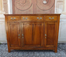 Credenza a tre ante in noce massello, epoca seconda meta '800, restaurata
