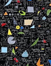 Math Fabric, Symbols, Chalkboard, Back to School, Timeless Treas, 1/2 Yard Cut