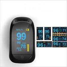 Finger Tip Pulse Oximeter Blood Oxygen SpO2 Heart Rate PI Sleep Monitor Portable